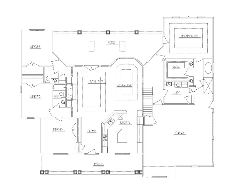 House plans custom homes prescott sons construction for 3 bedroom house plans with bonus room