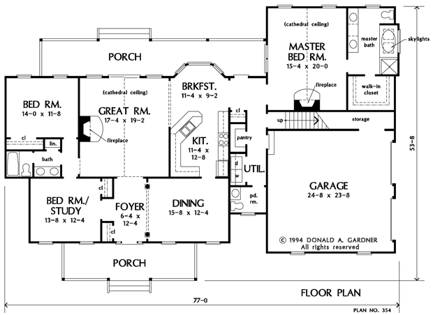 House plans custom homes prescott sons construction for 2000 square ft house plans